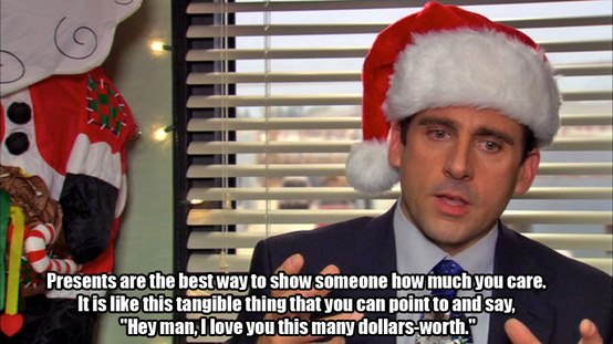 michael scott christmas