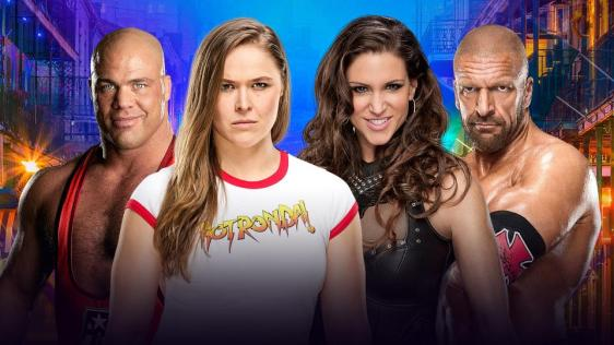 rousey angle vs hhh and steph