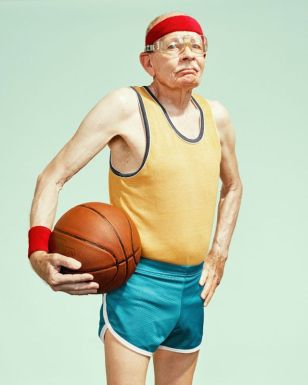 old man basketball
