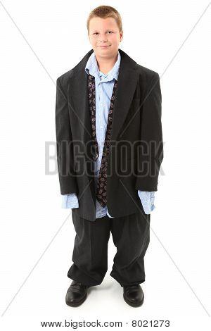 kid in suit